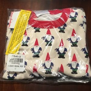 HA size 110 organic pajamas in gnome print